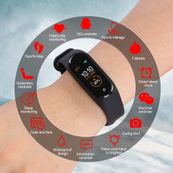 M5 Smart Band Blood Pressure Pedometer Heart Rate Monitor Sleep Fitness Sport Tracker Bracelet Pulsometer Smart Wristband Watch