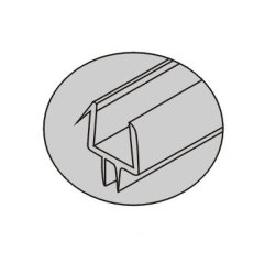 PVC Seals for Glass Eight to Twelve mm (PS-7)
