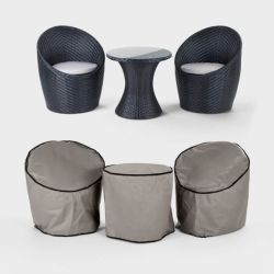 Outdoor Wicker Furniture Cover Waterproof Chair Set