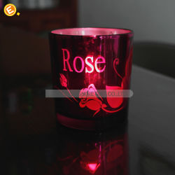 Wholesale Electroplated Votive Glass Candle Holder
