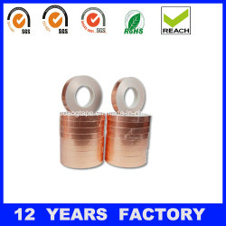 Thickness 0.07mm Copper Foil Tape Backed with Conductive Adhesive