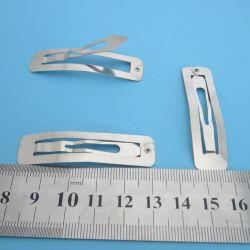 Silver Color Babay Rectangle Small Metal Snap Hair Clip