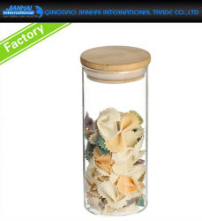 Airtight Straight Candy Storage Glass Jar with Metal Seal
