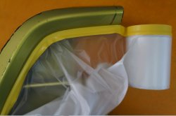 PVC Tape + Protective Film, Masking Film for Auto Painting