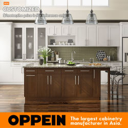 Canton Fair Kitchen Companies Reasonable Price Lacquered Kitchen Cabinets (OP17-L09)