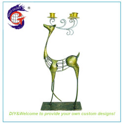 14a0d7c1827 Christmas Gift Gold Metal Deer Candle Holder