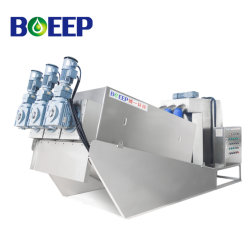 Multi-Disc Screw Press Sludge Dewater Treatment Products System