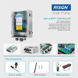 Top Quality DC Brushless Solar Water Pump Price and MPPT Controller with 270m Lift