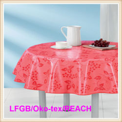Charmant PEVA Printed Tablecloth/Table Cover Round Wholesale In Factory