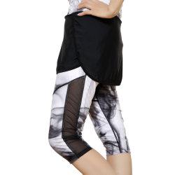 Brand Fitness Legging Bodybuilding Lady's Sports Pants Black/Grey Sportswear
