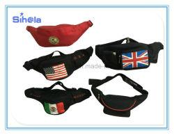 Custom OEM 600d Black Men Women Small Sport Running Crossbody Messenger Waist Bag