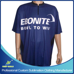 Custom Customized Sublimation Printed Bowling Shirts for Bowling Sports