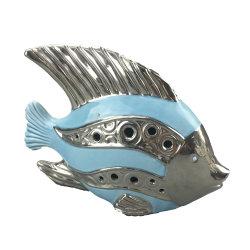 Garden Decorative Ceramic Blue Fish