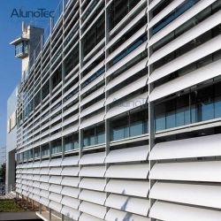 Aluminum Slat Fence Sun Louvre Fences for Outdoor Building