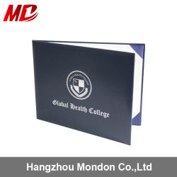 Wholesale Custom Leather Diploma Certificate Cover with Foil Silver Stamping