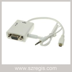Micro HDMI to VGA with Audio Cable Adapter