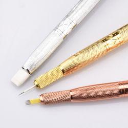 Three Colors Handmade Microblading Tattoo Handles Manual Eyebrow Tattoo Pens for Cosmetic