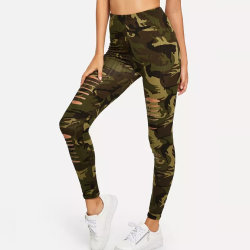 Camo Print Ripped Sports Wer Women Leggings Custom