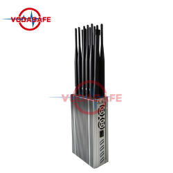12 Antennas Portable 4G / WiFi / 5.8g Portable Mobile Phone Signal Jammer Blocker with High Power