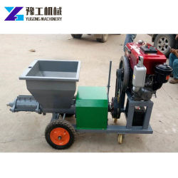 Factory Supply Diesel Engine Mortar Slurry Spray Pump Machine