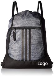 Sackpack Fashion Sports Bag for Women and Men Gym Bag New Grey with Black Bottom