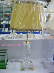 3 Feet Plug Crystal Glass Table Lamp (JD-AC-036)