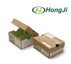 Flat Pack Matt Black Corrugated Cardboard Paper Shoe Boxes