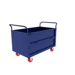 Transport Mobile Wheeled Steel Metal Powder Coated Handcart