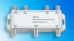 6in1 Sat/CATV Diseqc Switch with CE Certification