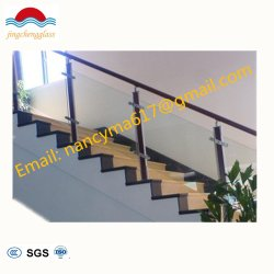 Chinese modern Interior Portable Glass Railing Steel/Wood Glass Stair