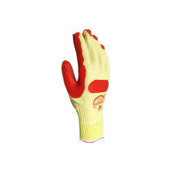 Factory Produce Industrial Blue Laminated Latex Palm Cotton Work Gloves