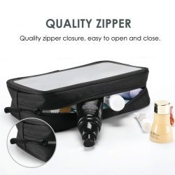 Tsa Approved Cosmetic Bag Transparent Storage Bags for MacBook Adapter Make up Tools Traveling