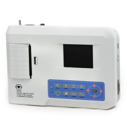 Portable 12 Lead 3 Channel ECG Machine Electrocardiograph EKG Machine