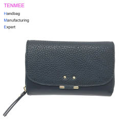 Lcq-0150 High Quality Fashion Gift Set Ladies Wallet Lechee Stria Leather Purse Trend Women Folded Wallets for 2018