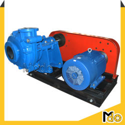 6inch Belt Driven Horizontal Centrifugal Slurry Pump with Motor