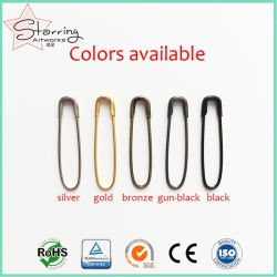 Wholesale 22mm U Shape Coilless Metal Safety Pin for Hanging Tags
