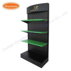 Custom Free Standing Metal Pegboard Hand Power Tool Holder Display Stand Rack for Store
