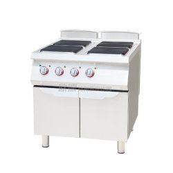 Commercial Kitchen Electric Stewing Cooking Stove With Four Burner Head