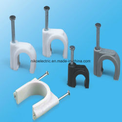 Factory Supply 12mm Round Circle Nail Wall Cable Clips