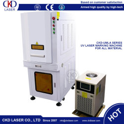 Ce Enclosed Cover UV Laser Marking Machine for Leather Glass