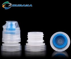 Plastic Water Bottle Silicone Flip Top Caps with Spout