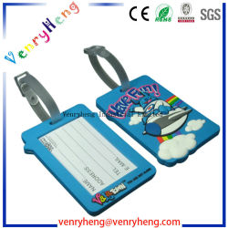 3D Cartoon Custom PVC Rubber Luggage Tag