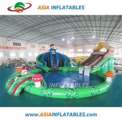 Customized Shark Inflatable Wate Park Water Slide with Pool