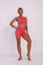 Gym Wear Women Seamless Set Crop Top Sports Bra Running Workout Shorts 2PCS Set