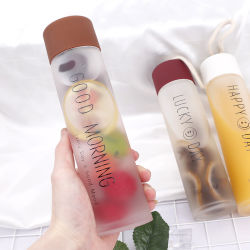 Eco-Friendly Products Hot Items of Drinking Frosted Glass Water Bottle/ Portable Sports Water Clear Glass Bottle