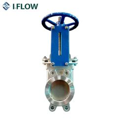Manufacturer Direct Dn100 4 Inch Cast Steel Flanged Manual Slurry Knife Gate Valve