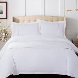 Wholesale Luxury 400TC King Size White Cotton Hotel Bed Sheet (JRD089)