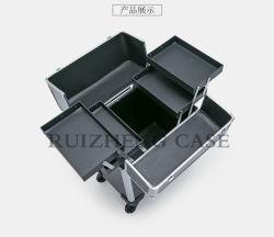 Hotsale Waterproof Hard Rolling Aluminum Soho Cosmetic Case