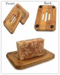 Wholesale Natural Bamboo Soap Dish for Bathroom