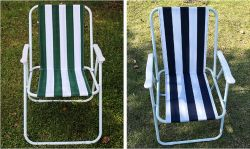 Portable Outdoor Steel Tube Oxford Fabric Beach Folding Camping Chair